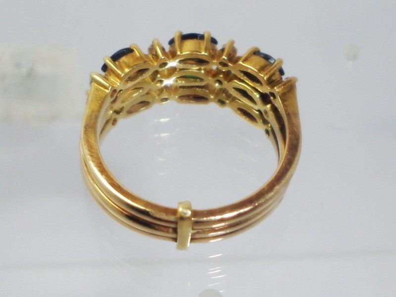 9d65b88ed8f75 boqueiraojoias anel ouro 18k safira esmeralda rubi dimantes. Carregando  zoom.