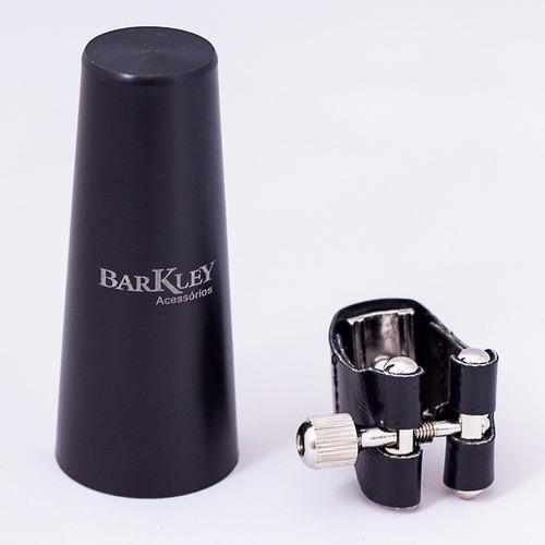 boquilha barkley classic s sax soprano + braçadeira barkley