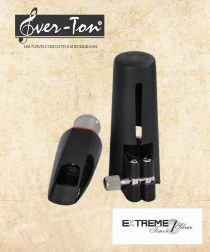 boquilha ever-ton extreme 7 silver sax tenor completa