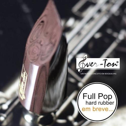 boquilha ever-ton full pop ebonite marble sax alto