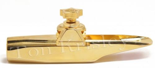 boquilha sax alto ton krisley metal tk-6 dourado brindes