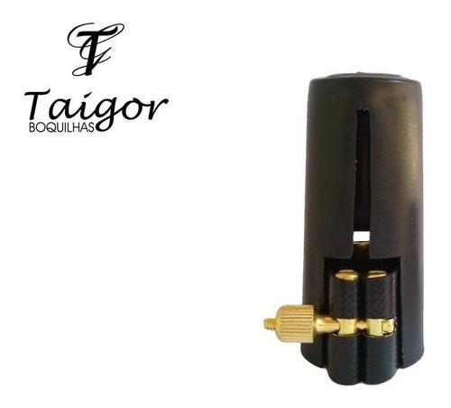 boquilha taigor sax alto canon preta ouro 18k braç cobre boq