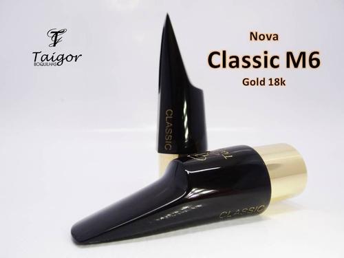 boquilha taigor sax alto classic m6 com abraçadeira