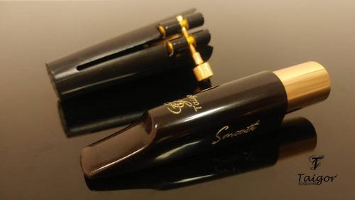 boquilha taigor sax tenor smooth com abraçadeira