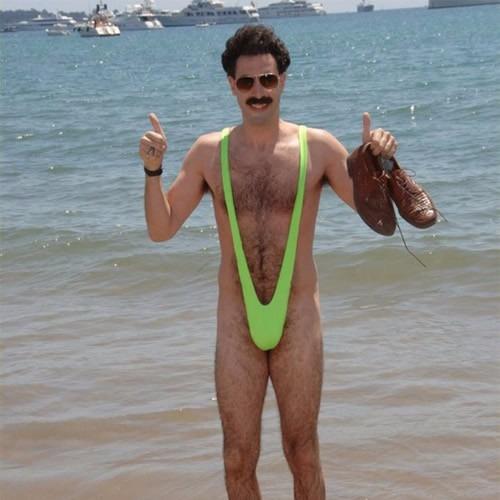 3c389b4618 Borat Mankini Traje Adulto Fantasia Maiô Verde - R  100