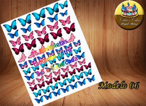 borboleta borboletas personalizada - papel arroz folha a4