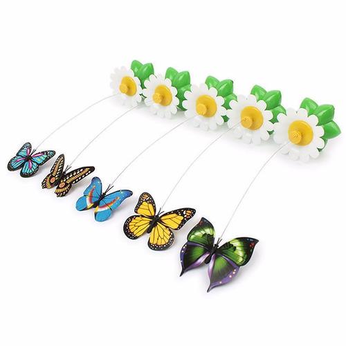 borboleta giratoria voadora elétrica brinquedo para pet gato