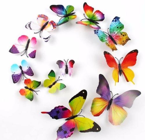 borboletas 3d adesivo imã quarto bebê  primavera decoraçã