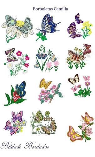 borboletas camilla - coleção de matriz de bordado