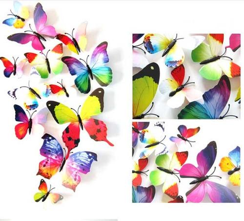 borboletas decorativas 3 kits natureza casa jardim 36 peças