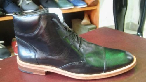 borcego bota 100% cuero vestir moda 2017 hombre - iv art 254