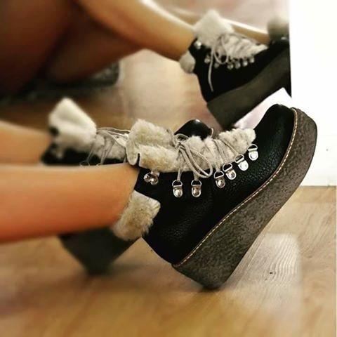 borcego bota botineta corderito piel base crepe cuero vacuno