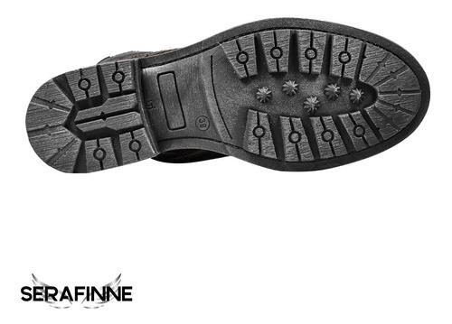 borcego caña alta cuero militar clasico hombre stone 501