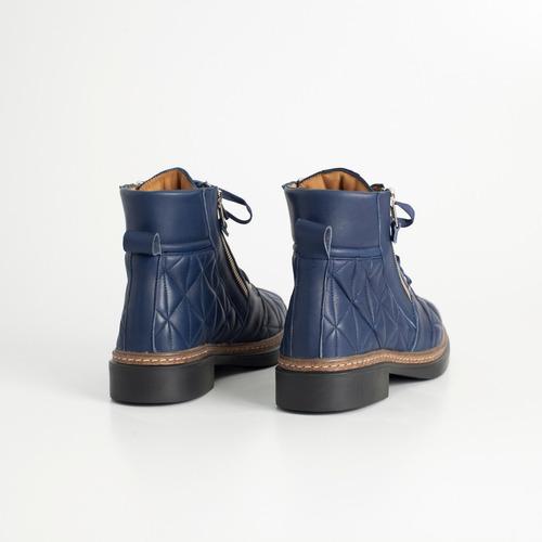 borcego de cuero. art parla azul. otro calzado