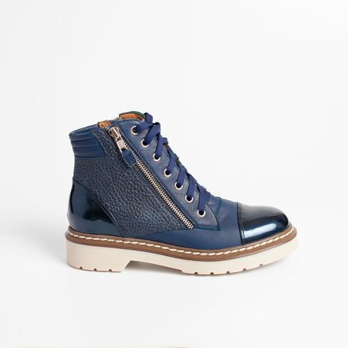 borcego de cuero. art virgo azul. otro calzado