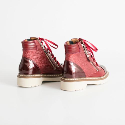 borcego de cuero. art virgo bordo. otro calzado