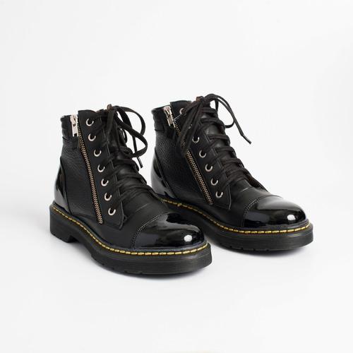 borcego de cuero. art. virgo negro. otro calzado.