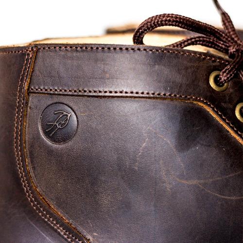 borcegos bota de cuero con base de suela