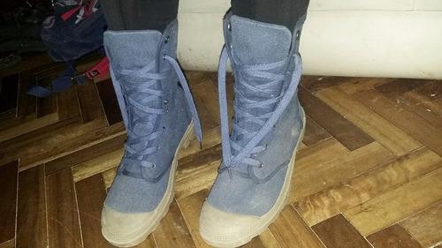 borcegos botas de lona con cordones paddock