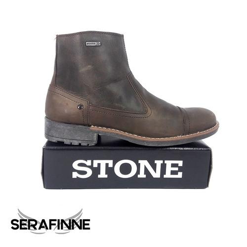borcegos de cuero stone oferta imperdible!! art 504