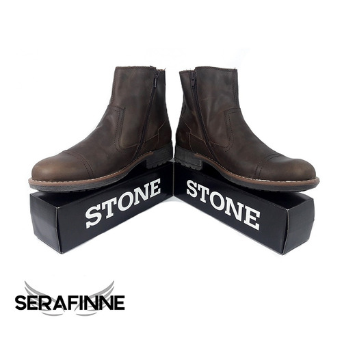 borcegos de cuero stone oferta imperdible!! art 504 gratis