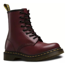 100Original Martens Mujer 1460 Borcegos Dr Red Smooth ymN0nvwO8P