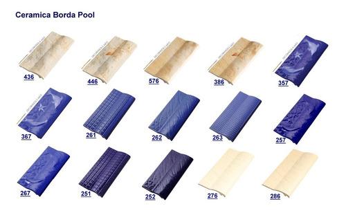 borda pool para piscina decorada a mão-267 (xx11) 4415-1661