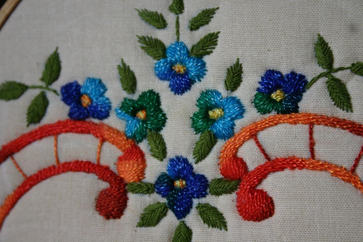 Bordado hecho a mano, artesanía popular y manualidades fotos.