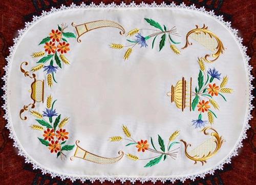 bordado computadorizado bc2870 lindo forro de mesa richelie