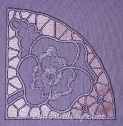 bordado computadorizado bc2894 linda almofada flor rocha