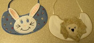 bordado computadorizados #bc001 babador coelho e leão
