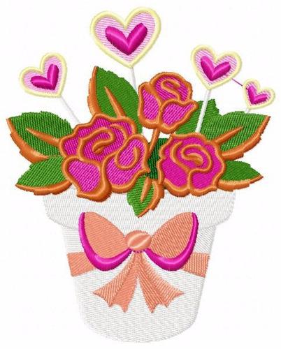 bordado computadorizados bc2697 lindos vasos de flores
