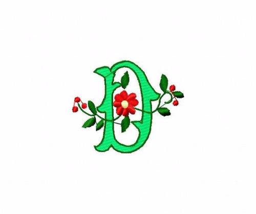 bordado computadorizados bc3424 alfabeto floral
