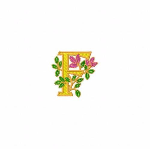 bordado computadorizados bc3425 alfabeto floral