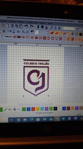 bordado de logos de colegios, equipos de fútbol, imágenes.