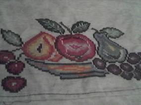 Bordado En Forma De Frutas Punto De Cruz