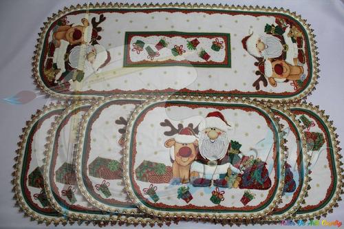bordado liquido individuales panel navidad * 7