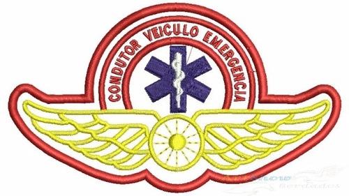 bordado samu brevê condutor veículo de emergência