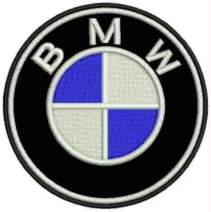 bordado termocolante bmw 10cm patch carro moto