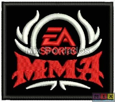 bordado termocolante - lutas - ea sports mma 8x6,5cm