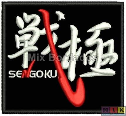 bordado termocolante - patch sengoku 8,5x7,4cm