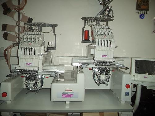 bordadora automática  swf b-902df doble función (9 colores)