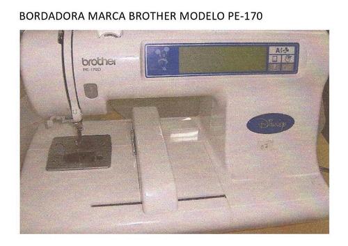 bordadora  brother pe-150 (04) & pe-170 (04) total (08)