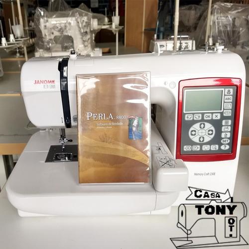 bordadora janome mc230e + software incluido