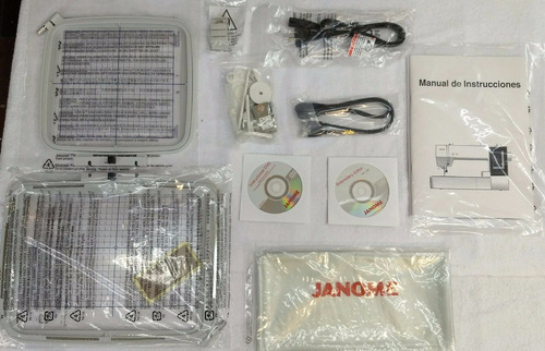 bordadora janome mc500e con software incluido y curso gratis