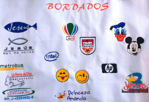 bordados al mayor, apliques, logos, parches, digitalizacion