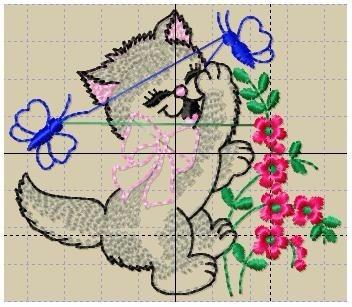 bordados computadorizados bc#139 linda gatinha