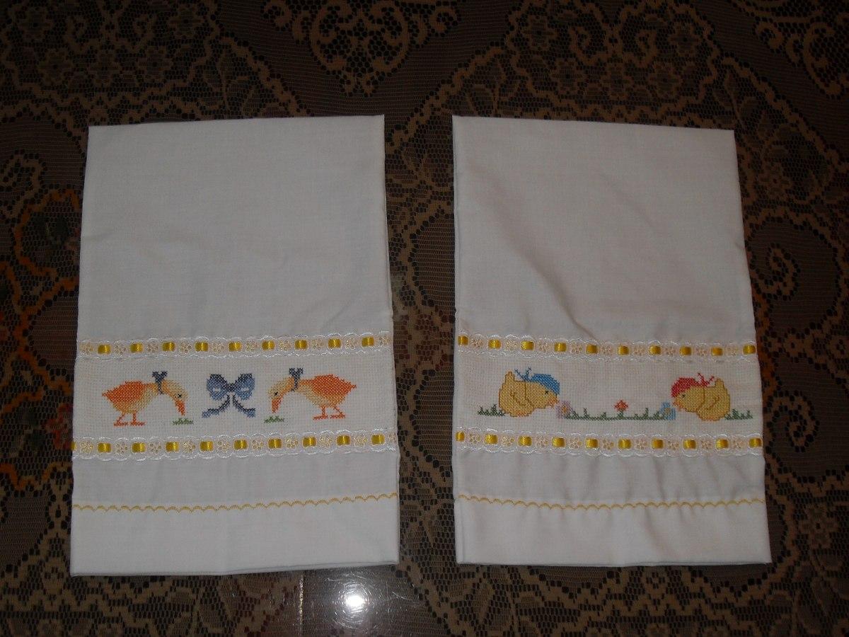 Bordados en punto cruz personalizados toallas cobijas - Punto de cruz bano ...