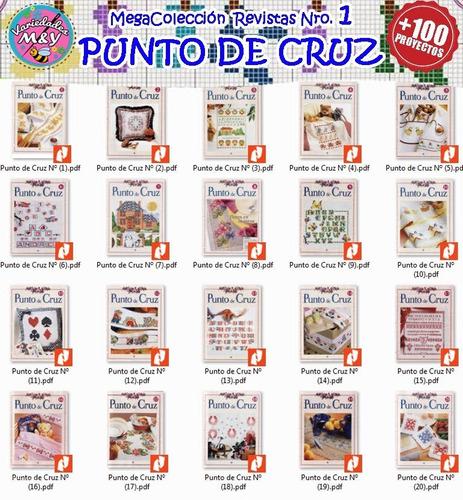 bordados punto de cruz revistas manuales patrones y +