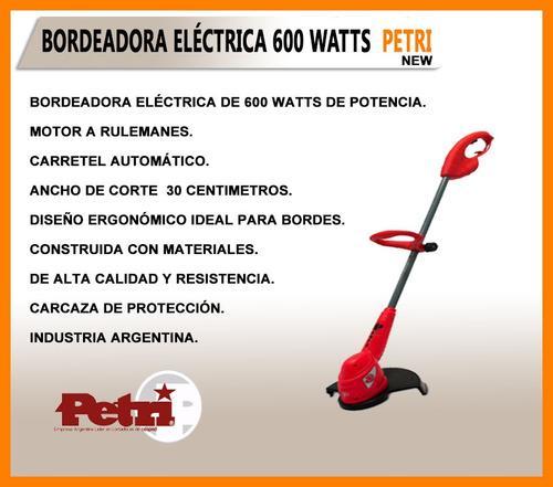 bordeadora de cesped petri 600 watts modelo new - oferta!